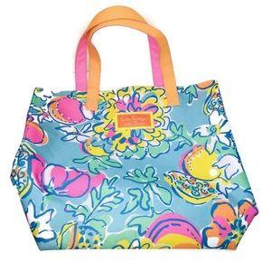 Lilly Pulitzer x Estée Lauder Floral Tote Bag
